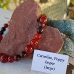 Medicine Heart Creations Carnelian & Poppy Bracelet