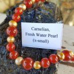 Medicine Heart Creations Carnelian & Fresh Water Pearl Bracelet