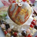 Medicine Heart Creations Picasso Jasper Heart Necklace