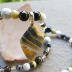Medicine Heart Creations Bumble Bee Jasper Stone Necklace