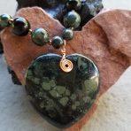 Medicine Heart Creations Kombaba Jasper Heart Necklace