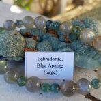Medicine Heart Creations Blue Apatite, Labradorite Bracelet