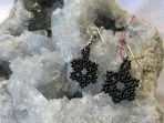Snow Flake Earrings Handmade by Huichol Native