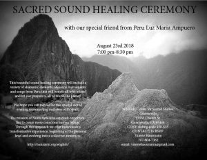 Sacred Sound Healing Ceremony @ CSS Guerneville | Guerneville | California | United States