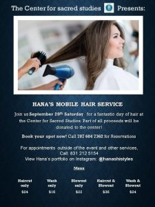 Hana's Mobile Hair Service Comes To CSS! @ CSS Guerneville | Guerneville | California | United States