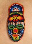 Huichol Mask Decorated with Beads Sacred Symbols