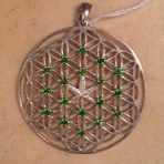 Leaf of Life with Green Diopside
