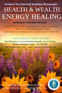 Health & Wealth Group Healing & Private Sessions with Sibyl Harmony @ CSS Guerneville | Guerneville | California | United States