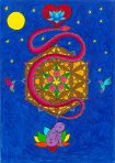 Journey into the Soul, Expand into the Universe Greeting Card