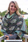 Kasmir Shawl 100% Wool Dakini made by Women
